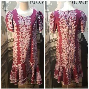 Vintage Lei Aloha Casuals Dress Size Medium
